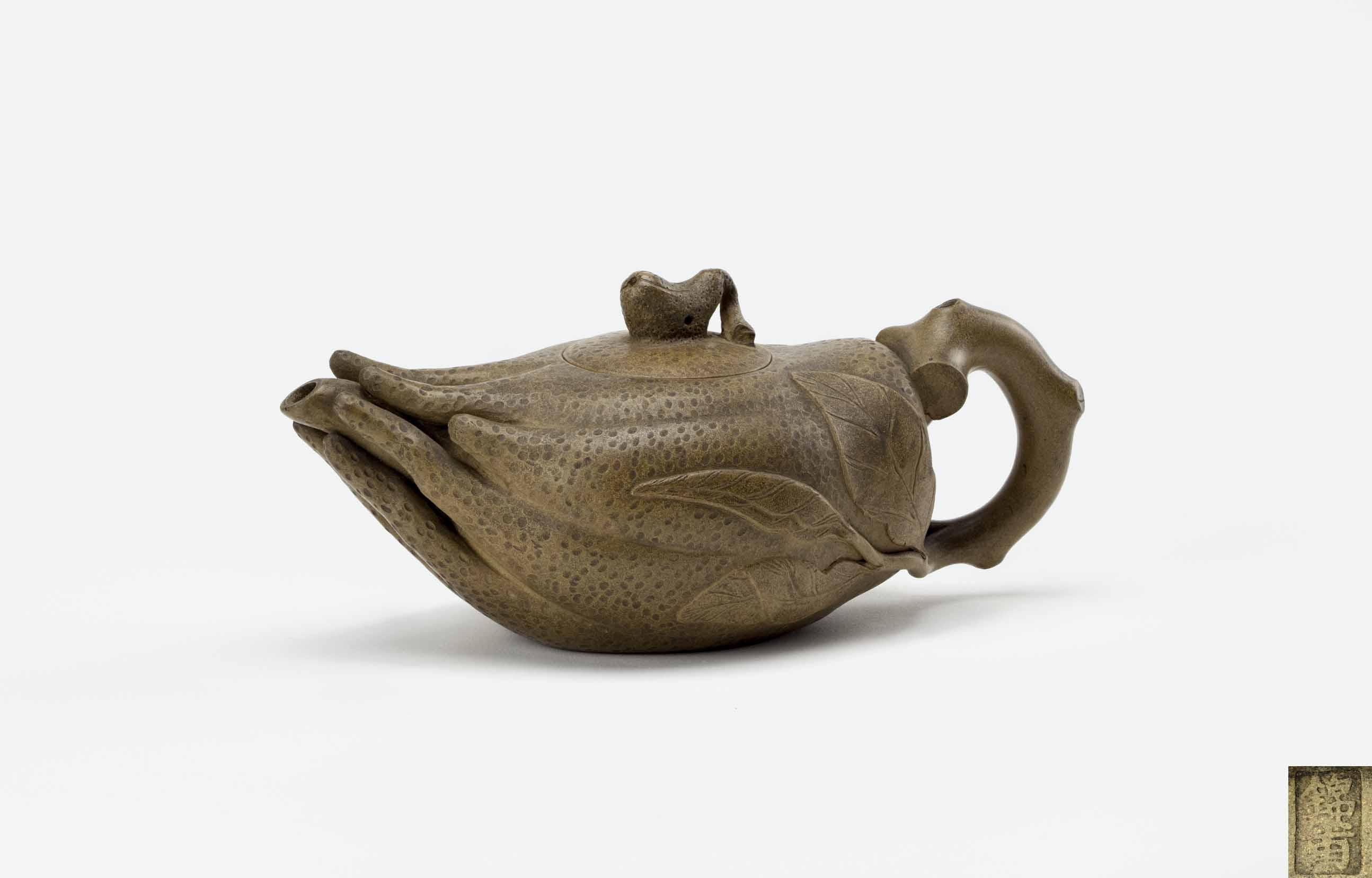 水仙茶壶造型雕刻图解