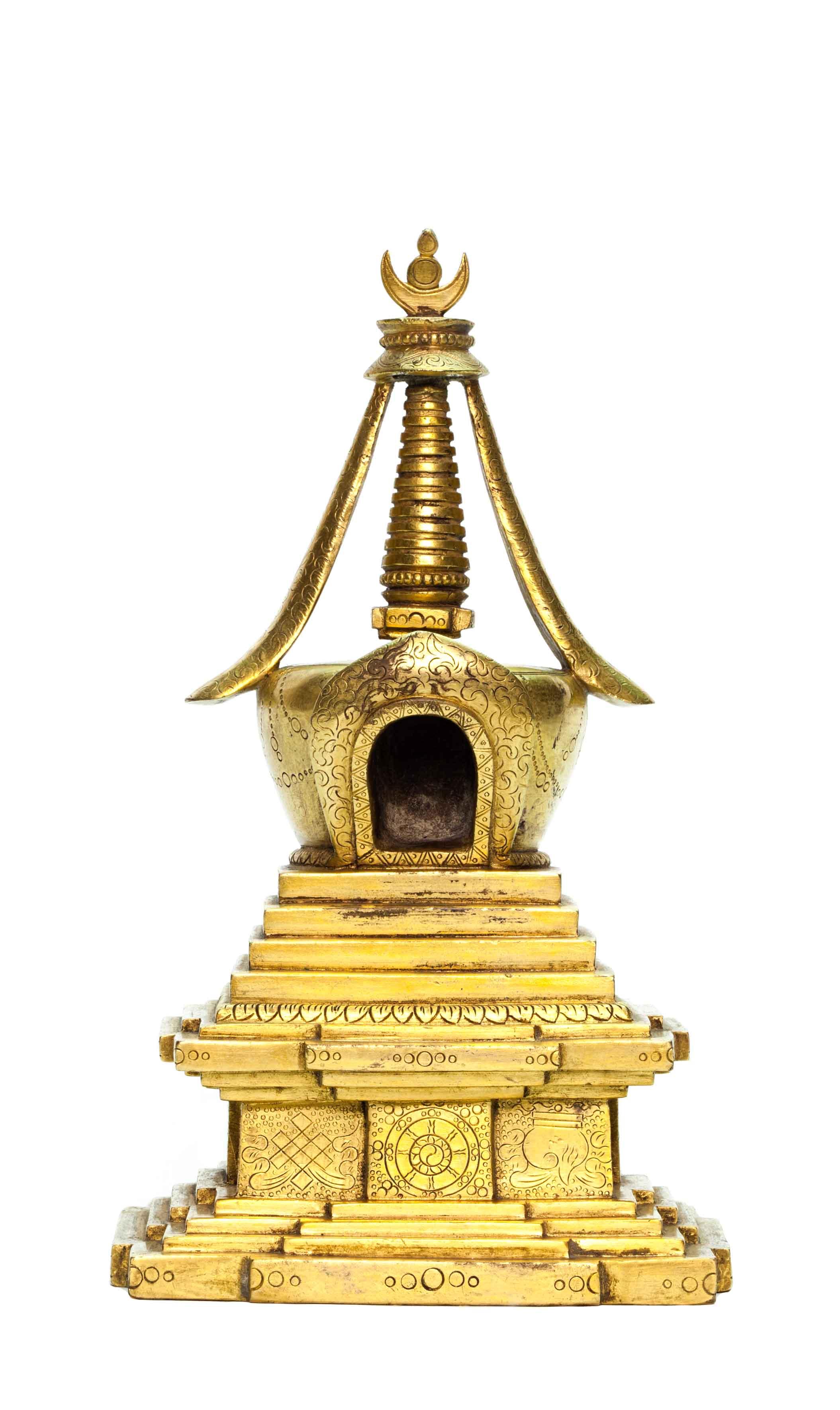 1293铜鎏金佛塔 图录号:1293 估价:rmb